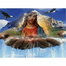 Diamond Painting Jesus Landscape