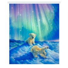 Girl's Diamond Embroidery Northern Lights Painting