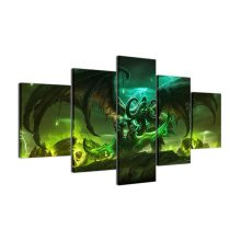 5 Pieces Game World Of Warcraft Character Painting Wall Art Living Room Home Decor